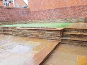Natural Indian Camel Sandstone Paving Raj Indian Sandstone Walling