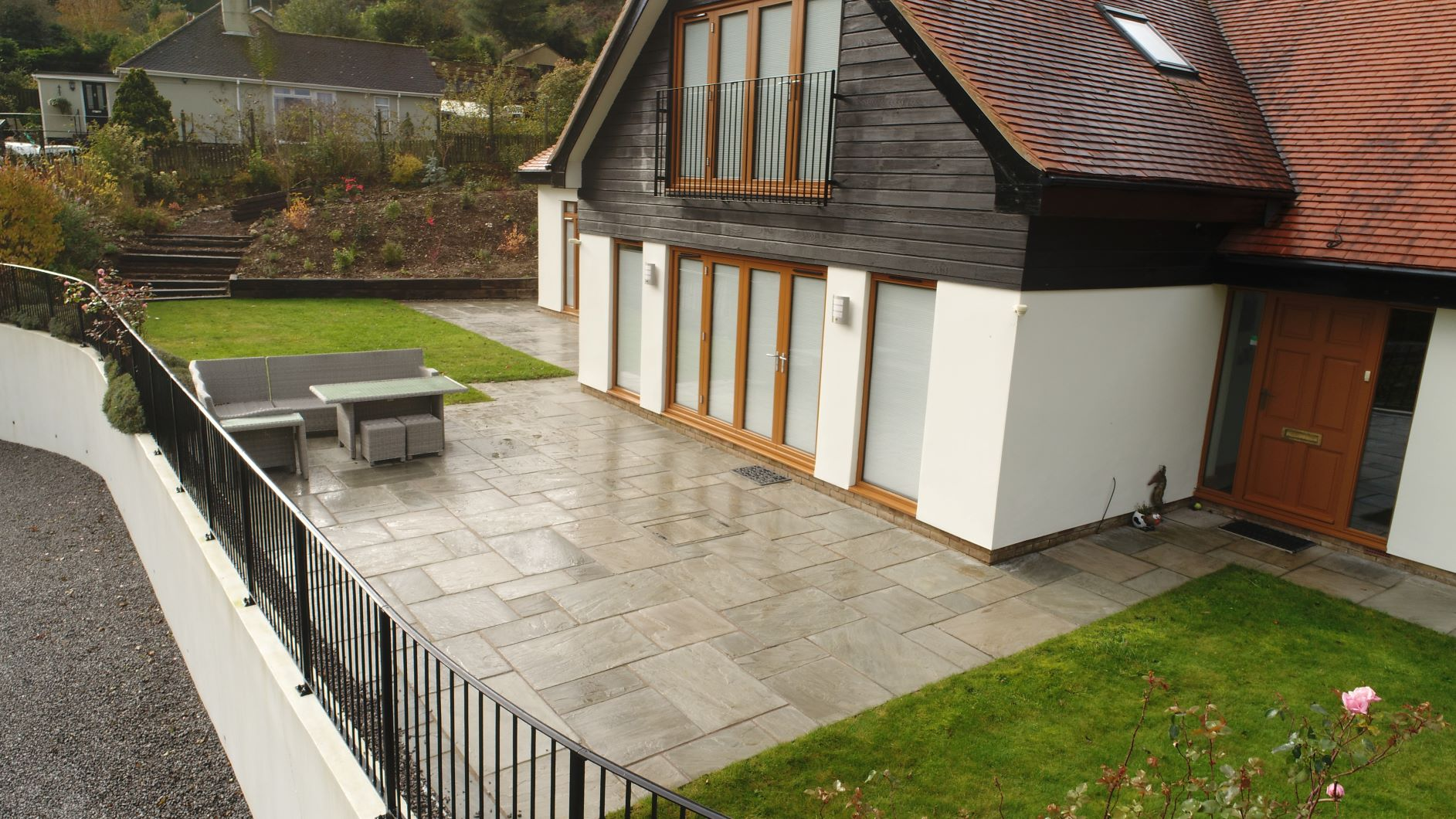 Tumbled Grey Indian Sandstone Paving